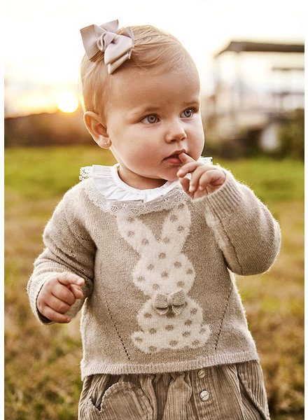 Mayoral Snow Bunny Sweater {Champagne}