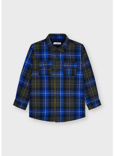 Mayoral Plaid Sweater Jacket {Royal/Hunter}