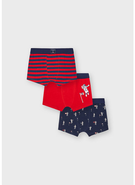 Mayoral Astronaut 3pc Boxer Set {Red/Navy}