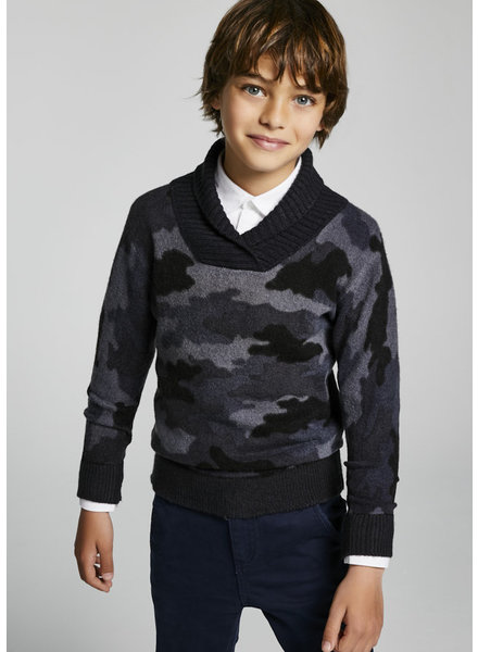 Mayoral Camouflage Sweater {Charcoal}