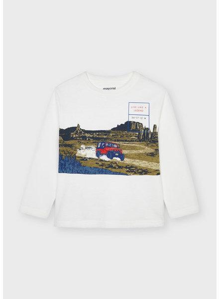 Mayoral Jeep L/S Shirt {Cream} F21