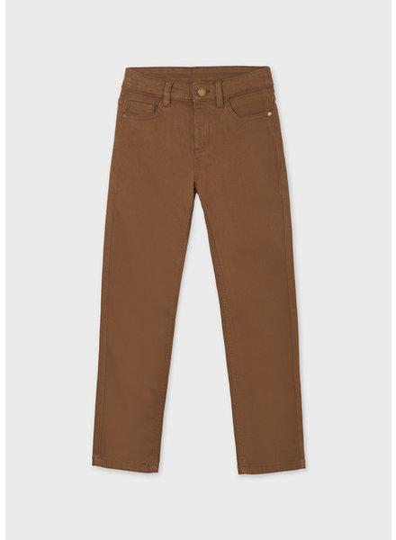 Mayoral 5 Pocket Slim Fit Basic Pant Tween {Coco Choco}