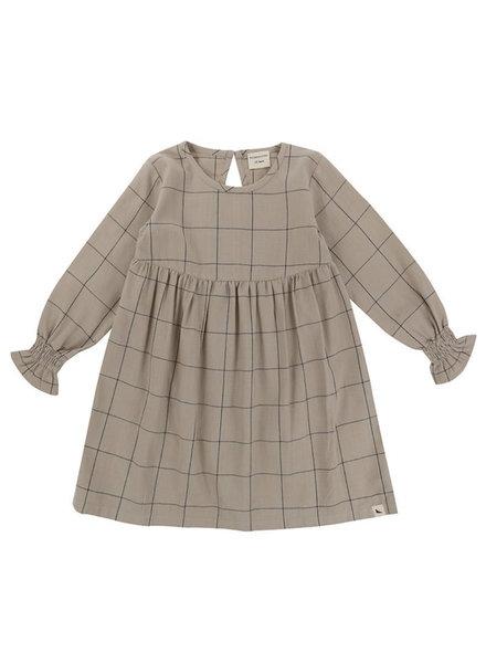 Turtledove London Woven Check Dress {Tan/Monochrome  Gray}