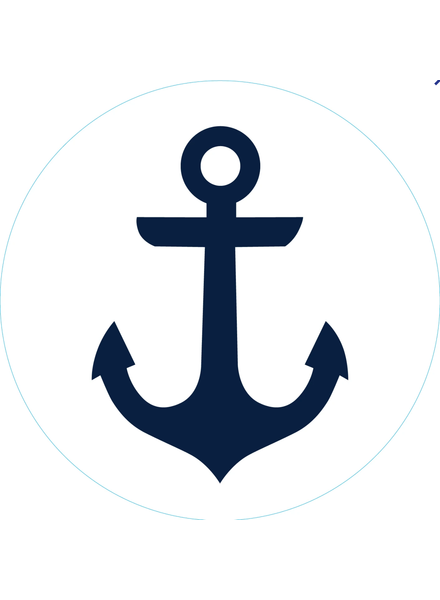Bogg Bag Bogg Bit {Navy Anchor}