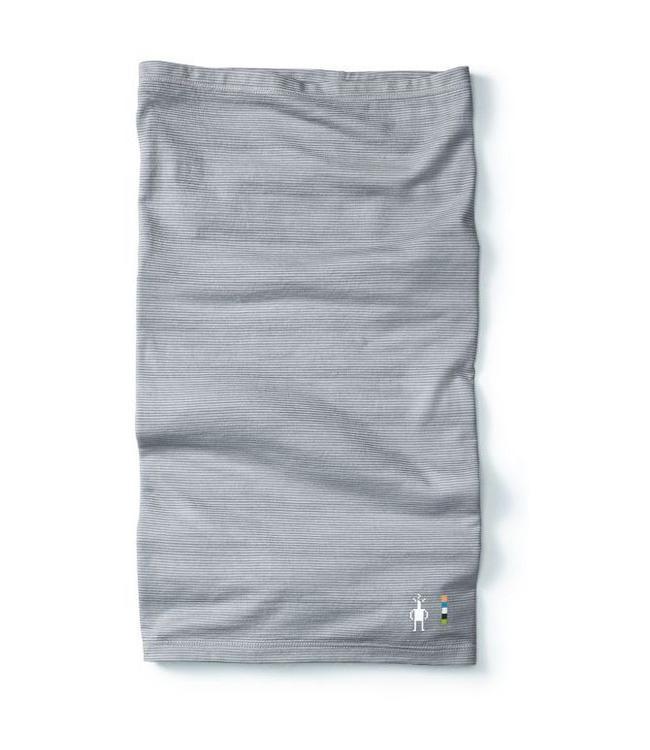 SMARTWOOL Merino 150 Micro Stripe Neck Gaiter - Dark Pebble Gray