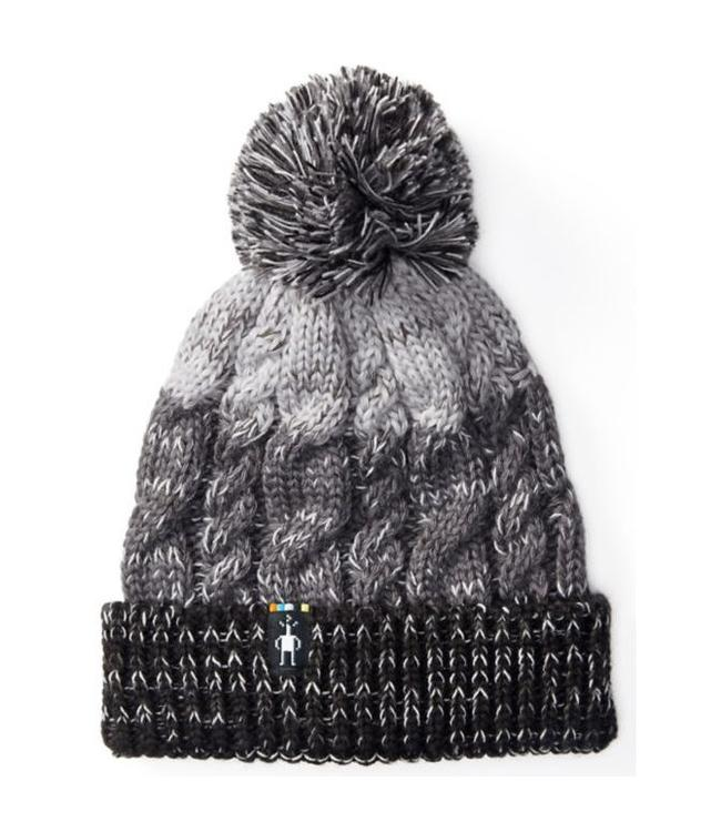 SMARTWOOL Women's Isto Retro Beanie - Black/Medium Gray Heather