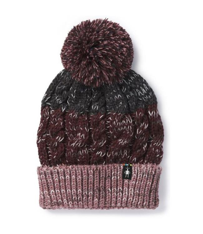 SMARTWOOL Women's Isto Retro Beanie - Nostalgia Rose H/Fig Heather