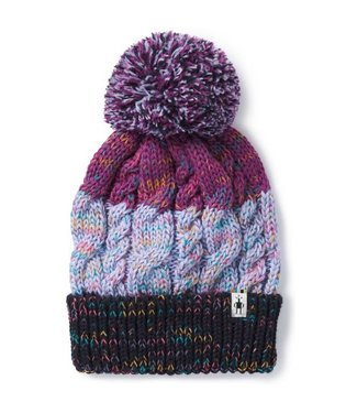 SMARTWOOL Women's Isto Retro Beanie - Purple Mist Heather