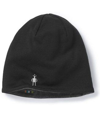 SMARTWOOL PhD® Light Reversible Beanie - Black/Charcoal Heather
