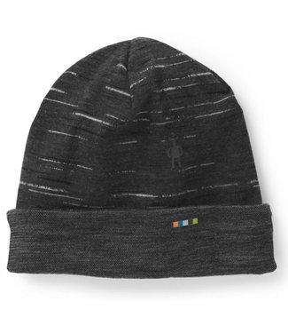 SMARTWOOL Merino 250 Reversible Pattern Cuffed Beanie - Charcoal/Black