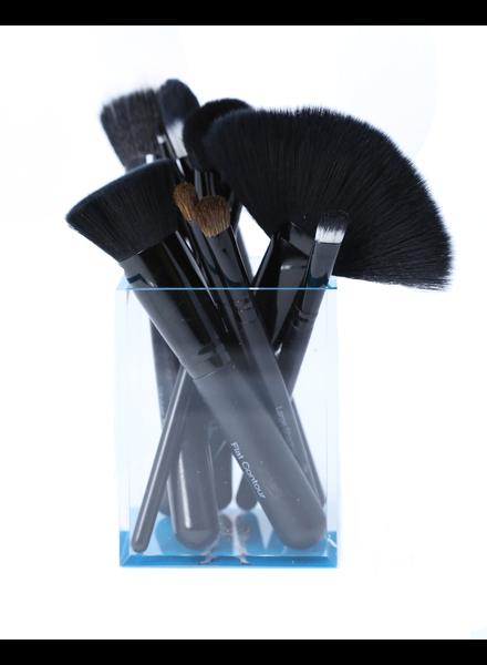 JKC Deluxe Brush Set in Zebra Cup
