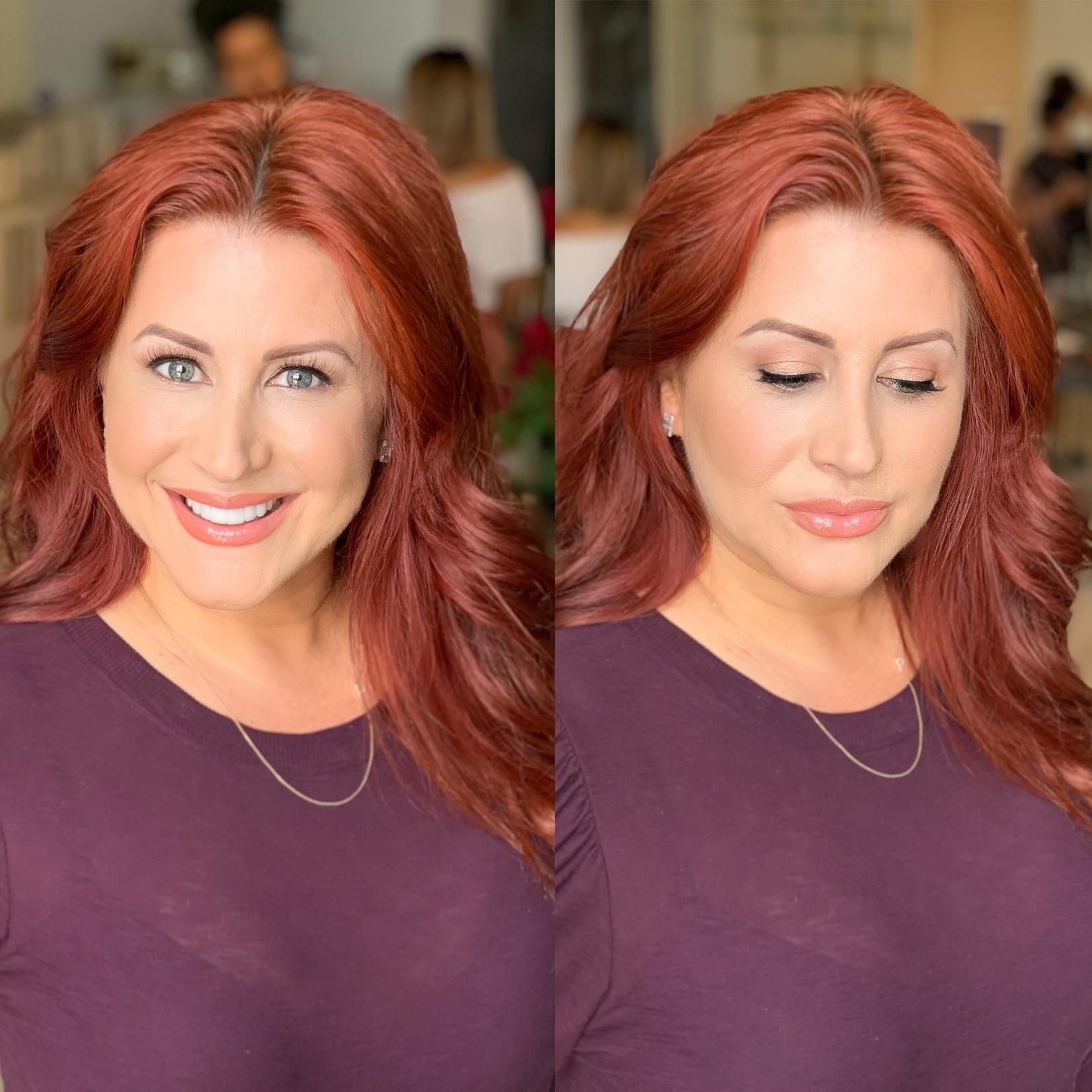 JKC SHOP BY EYE  - Auburn/Red Hair + Blue Eyes