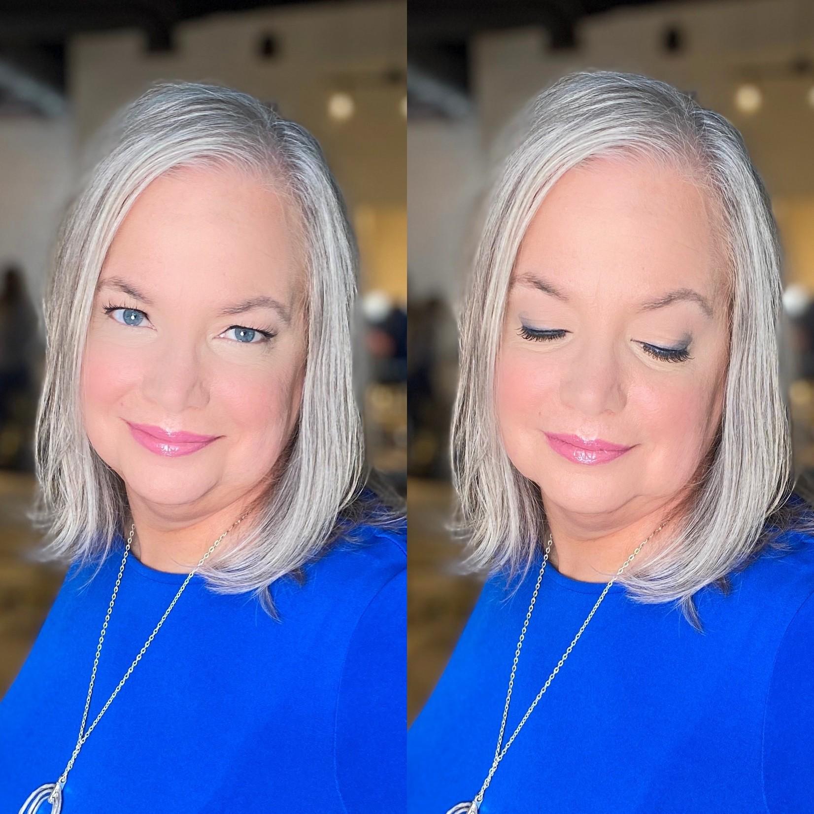 JKC SHOP BY EYE  - Gray Hair + Blue Eyes