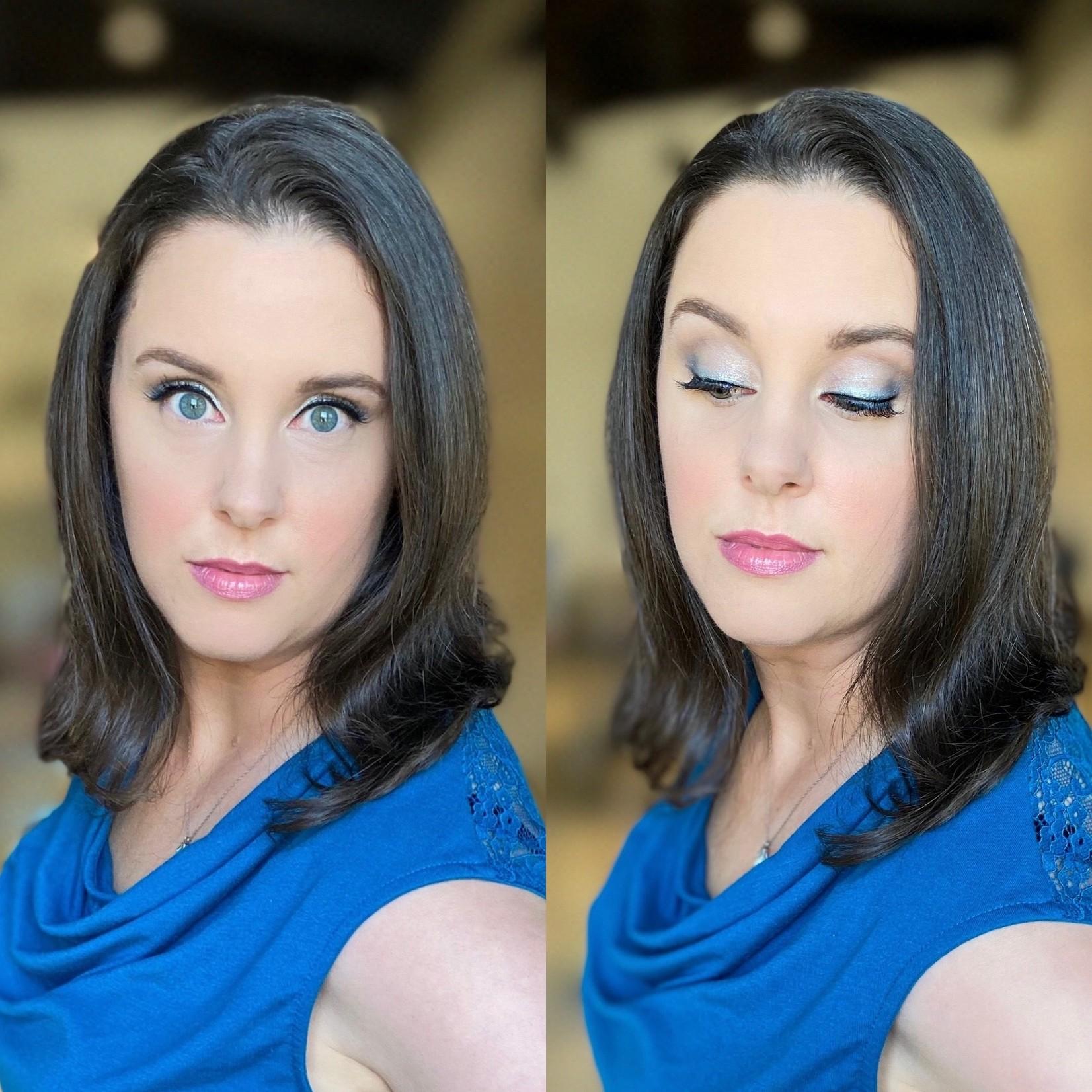 JKC SHOP BY EYE - Deep Brunette/Black Hair + Blue Eyes