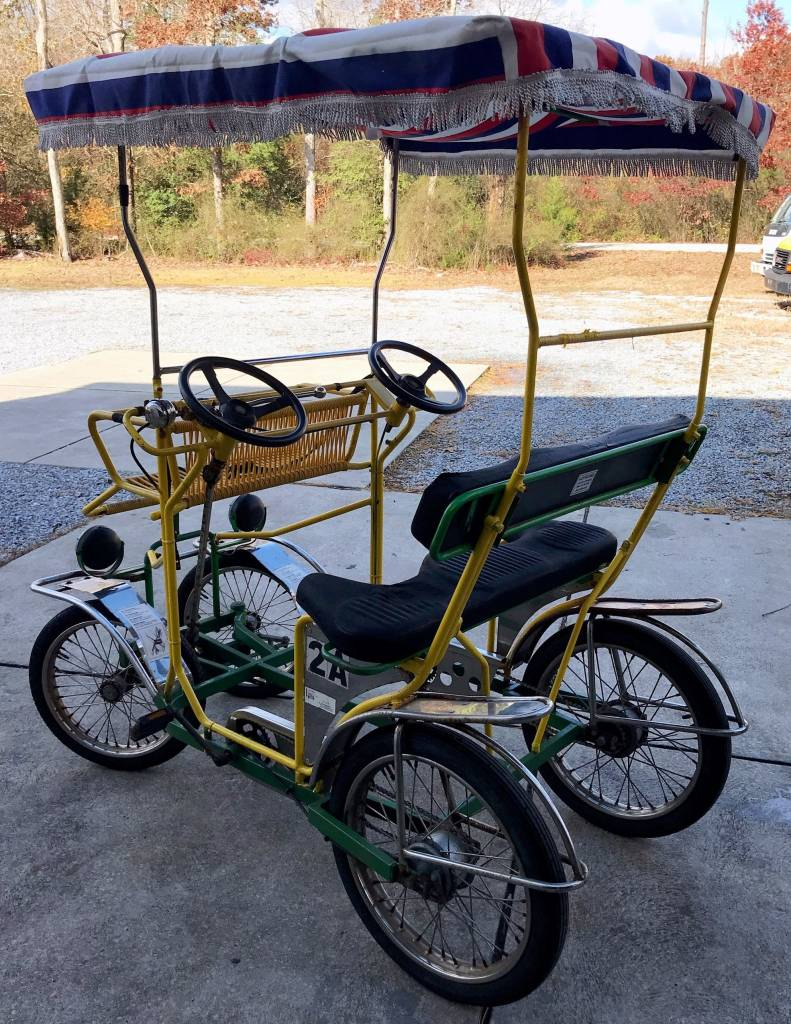 ed6e497b295 Used Tecnoart Surrey Bike 2A (Yellow and Green w/ Yellow Top ...