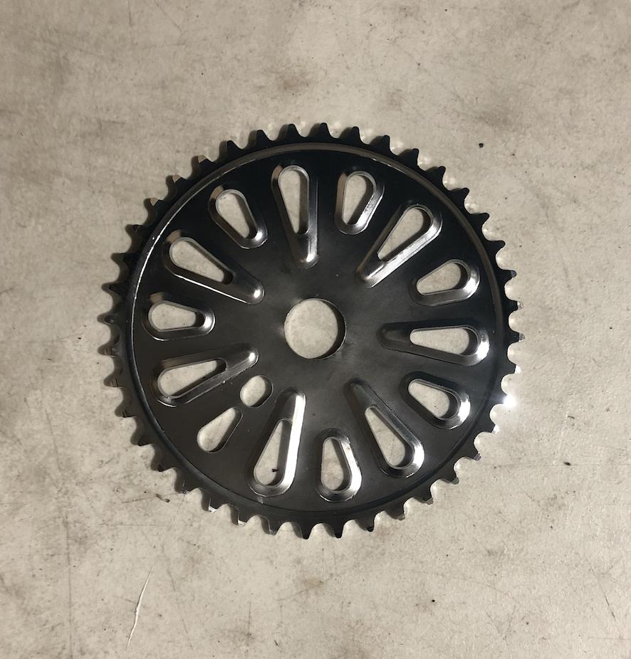 Single Speed Chainwheel Black