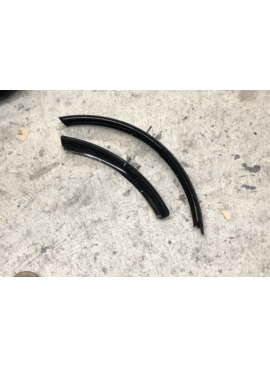 Black Bicycle Fender Set