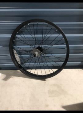 """20"""" Black Aluminum Front Wheel"""