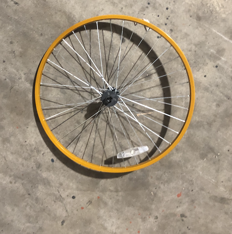 "26"" Front Aluminum Wheel (Light Orange)"