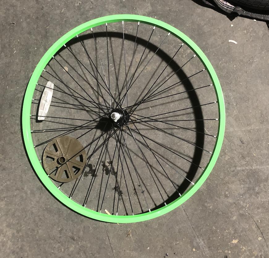 "26"" Front Aluminum Lime Green Wheel"