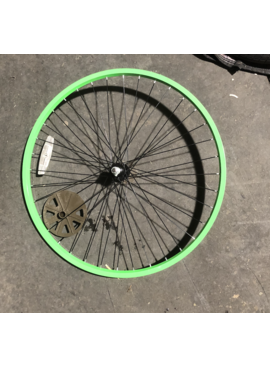 "26"" Front Aluminum Lime Green Wheel"