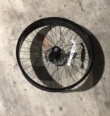 "26"" Front Aluminum Fat Disc Brake Wheel Black"