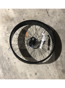 "26"" Front Aluminum Fat Disc Brake Wheel Black"
