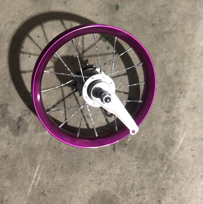 """12"""" Rear Steel Coaster Brake Purple"""
