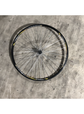 "27"" Vitesse 700 Front Aluminum Wheel Black and Yellow"