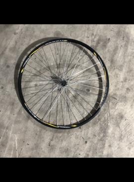 "27"" Vitesse 700 Front Aluminum Wheel Black and Yellow"