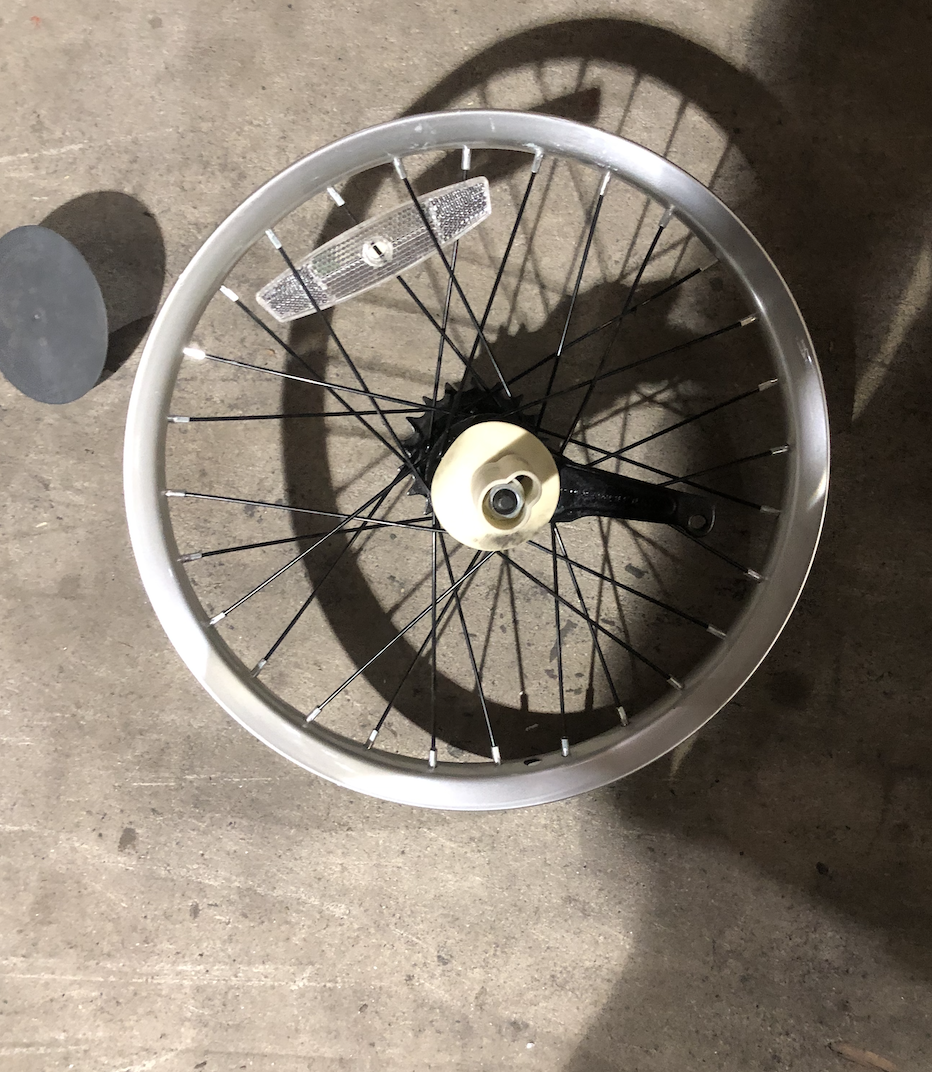 "20"" Rear Aluminum Coaster Brake Silver"