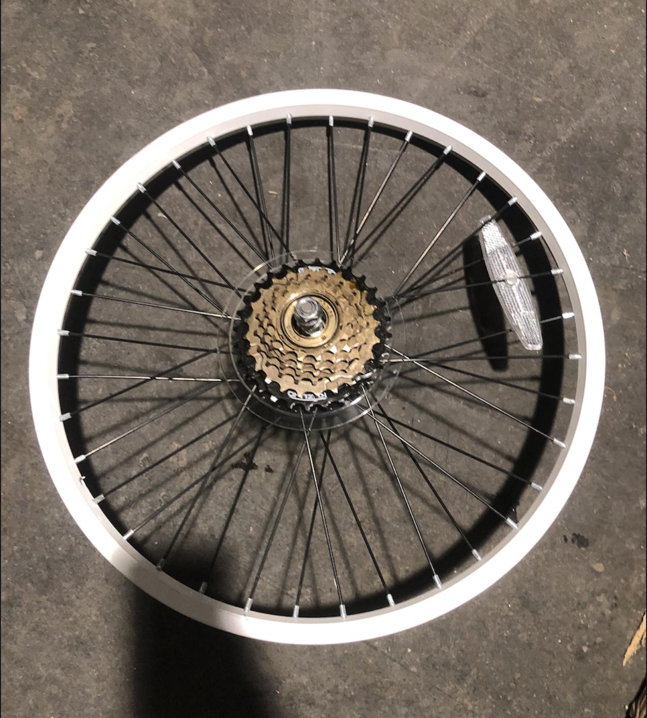 """20"""" Steel Rear Freewheel (White)"""