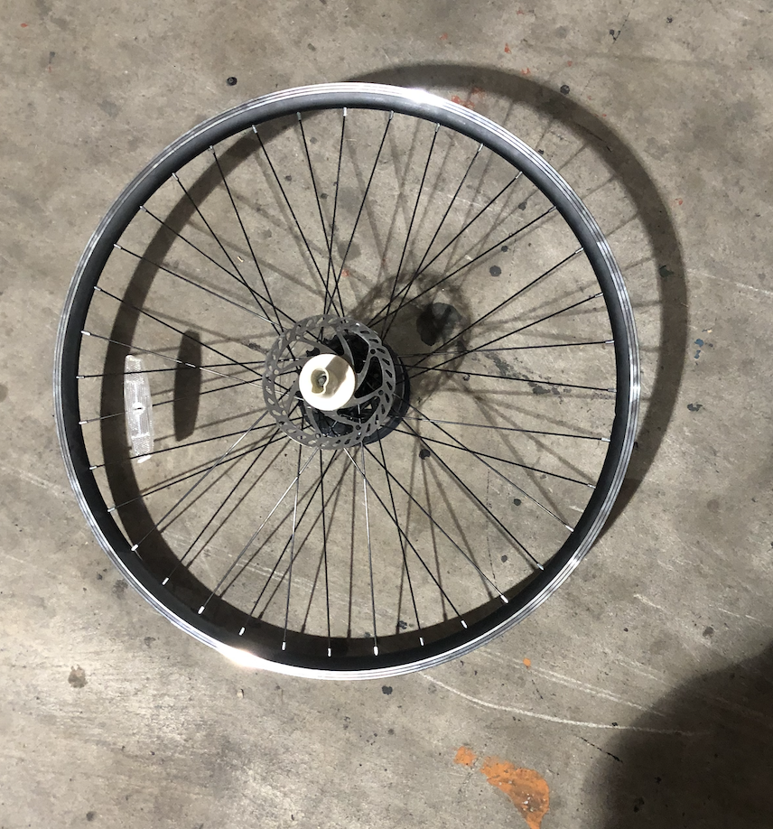 "29"" Aluminum Rear Freewheel Wheel (Silver)"