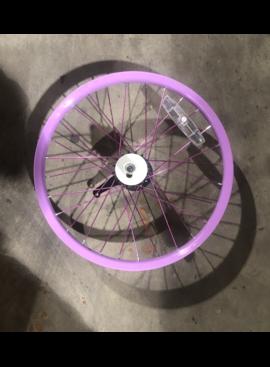 """18"""" Rear Steel Wheel / Coaster Brake (Purple)"""