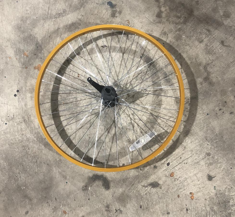 "26"" Aluminum Rear Wheel / Coaster Brake (Light Orange)"