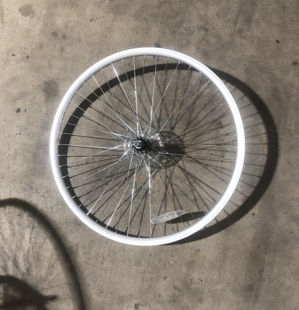 "24"" Rear Aluminum Wheel / Freewheel (Silver)"