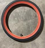 Bulk 18 X 1.95 Black/Red Tire & Tube