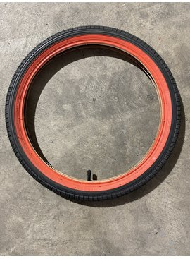 Bulk 18 X 1.95 Black/Red Tire & Tube