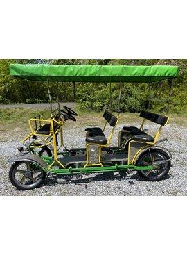 Used 2018 NewTecnoArt Selene Bus Surrey Bike (Yellow & Green w/ GreenTop)