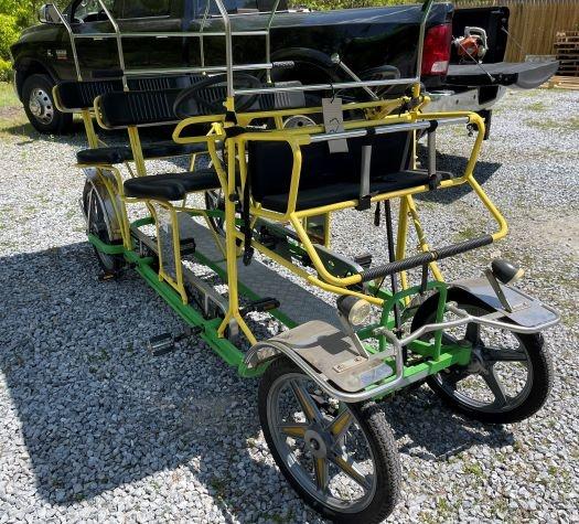Used 2018 NewTecnoArt Selene Bus Surrey Bike (Yellow & Green w/ Green Top)