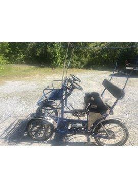 Used TecnoArt Single Bench Surrey Bike (Blue)