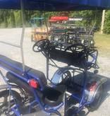 Used 2019 NewTecnoArt Selene Sport Surrey Bike (Blue w/ Blue Top)