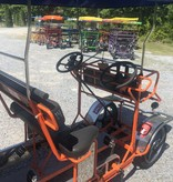 Used 2019 NewTecnoArt Selene Superbus Surrey Bike (Orange w/ BlueTop)