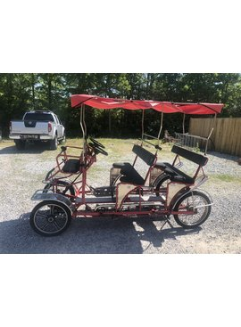 Used Ciclofan Delfino Double Bench Surrey Bike (Red w/ Red Top)