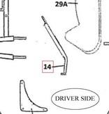 NewTecnoArt Rear Brace Support Section Frame, Diver Side