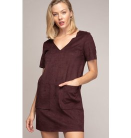MICRO SUEDE SHIFT DRESS