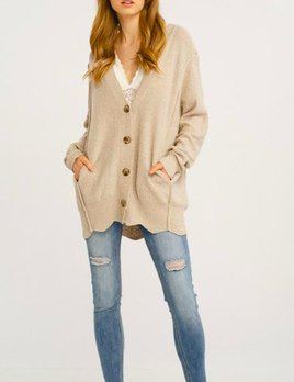 SCALLOP CARDIGAN
