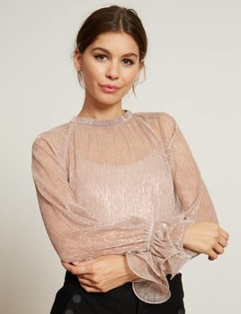 PLEATED METALLIC TOP