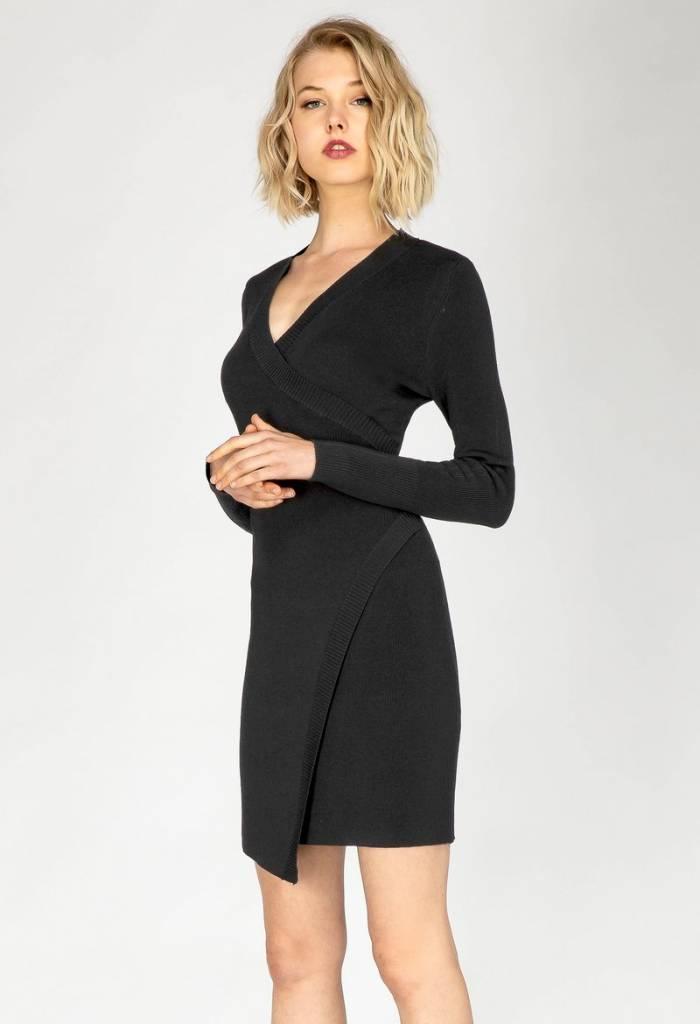 WRAP SWEATER DRESS