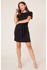 KNIT TIE FRONT DRESS
